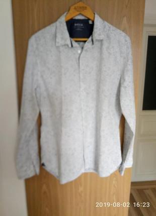Модная молодежная мужская рубашка(2фото рельный цвет)