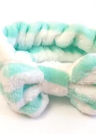 Мягкая полосатая повязка для волос / чалма / тюрбан / бантик