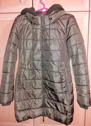 Куртка цвета хаки на рост 158-164, размер xs