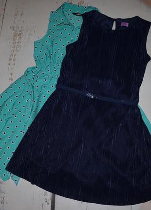 Платье плиссе с поясом f&f на 9-10 лет