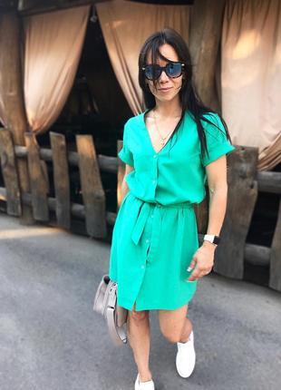 Льняное платье-халат качества люкс