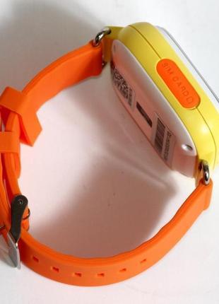 Детские умные смарт часы с gps  q90-plus. оранжевые2 фото