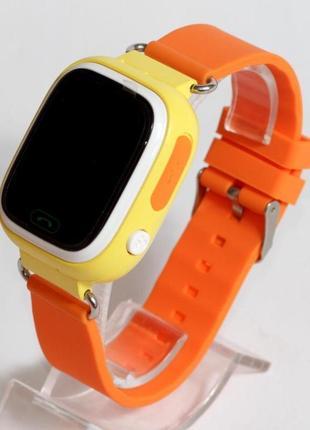 Детские умные смарт часы с gps  q90-plus. оранжевые1 фото