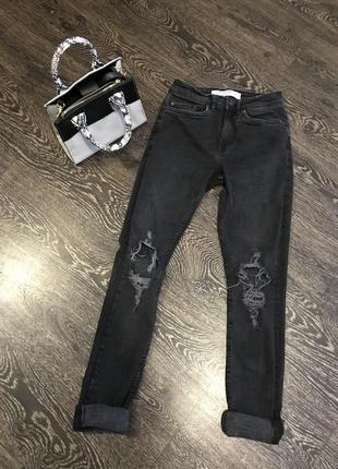 Рваные джинсы плотный джынс