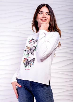 Летняя женская кофта, трикотаж-двунитка