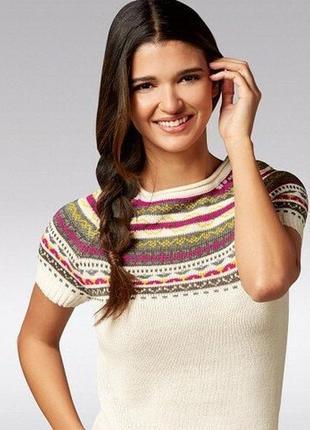 Красивое вязаное платье туника с орнаментом esmara германия