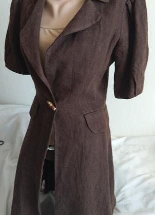 Крутое дизайнерское льняное платье, летнее пальто, плащ. sultanna frantsuzova