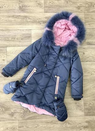 Красивое тёплое зимнее пальто новинка!