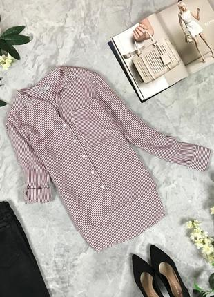Вискозная блуза с длинным рукавом в полоску  bl1931042 next