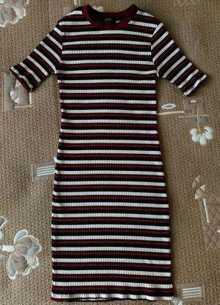 Плаття смугасте в рубчик р. 34/36 primark тренд
