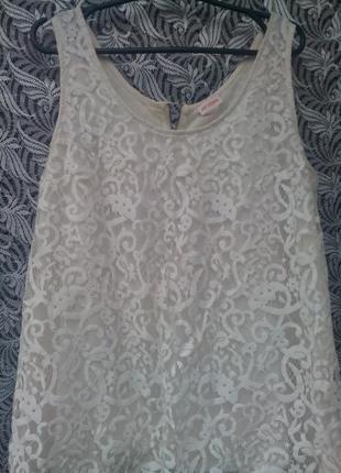 Кружевная майка блуза