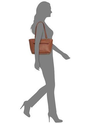 Кожаная сумка calvin klein l-angelina, кожа, оригинал