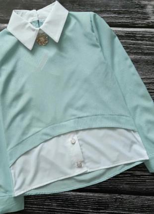 Нарядная блузка обманка