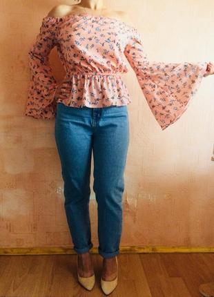 Летняя блуза в цветочный принт!