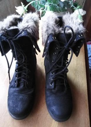 Madden girl черные сапоги-трансформеры до середины икры на шнуровке  деми