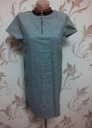 Шикарное платье, рубашка..воротник + застежка. ..очень крутое!!!турция. м, л