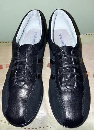 Туфли кожа спортивного типа кроссовки.3 фото