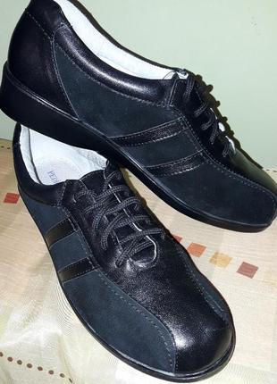 Туфли кожа спортивного типа кроссовки.5 фото